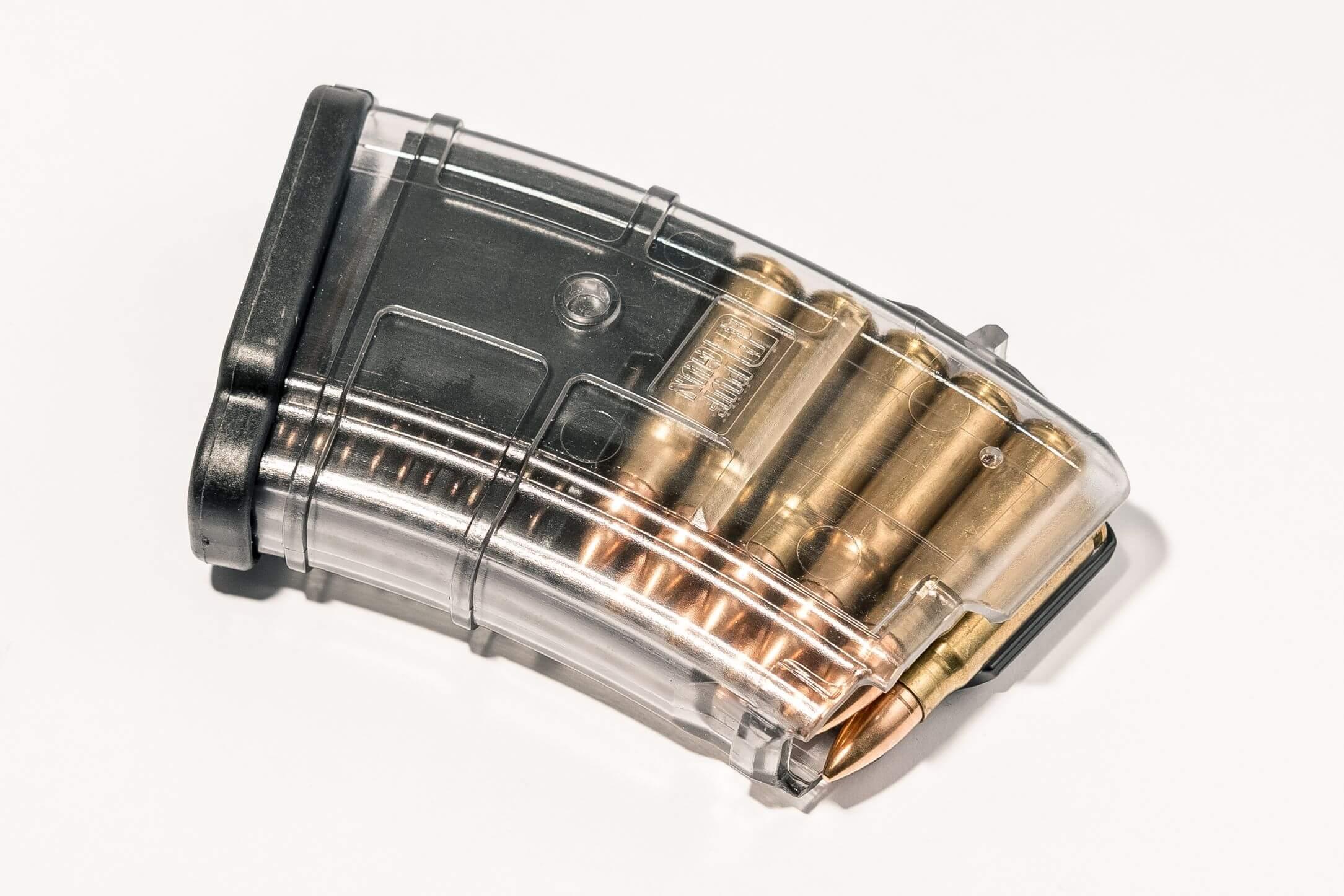 PUF GUN CARICATORE TRASPARENTE AK/SAIGA CAL 7.62X39 10 RND