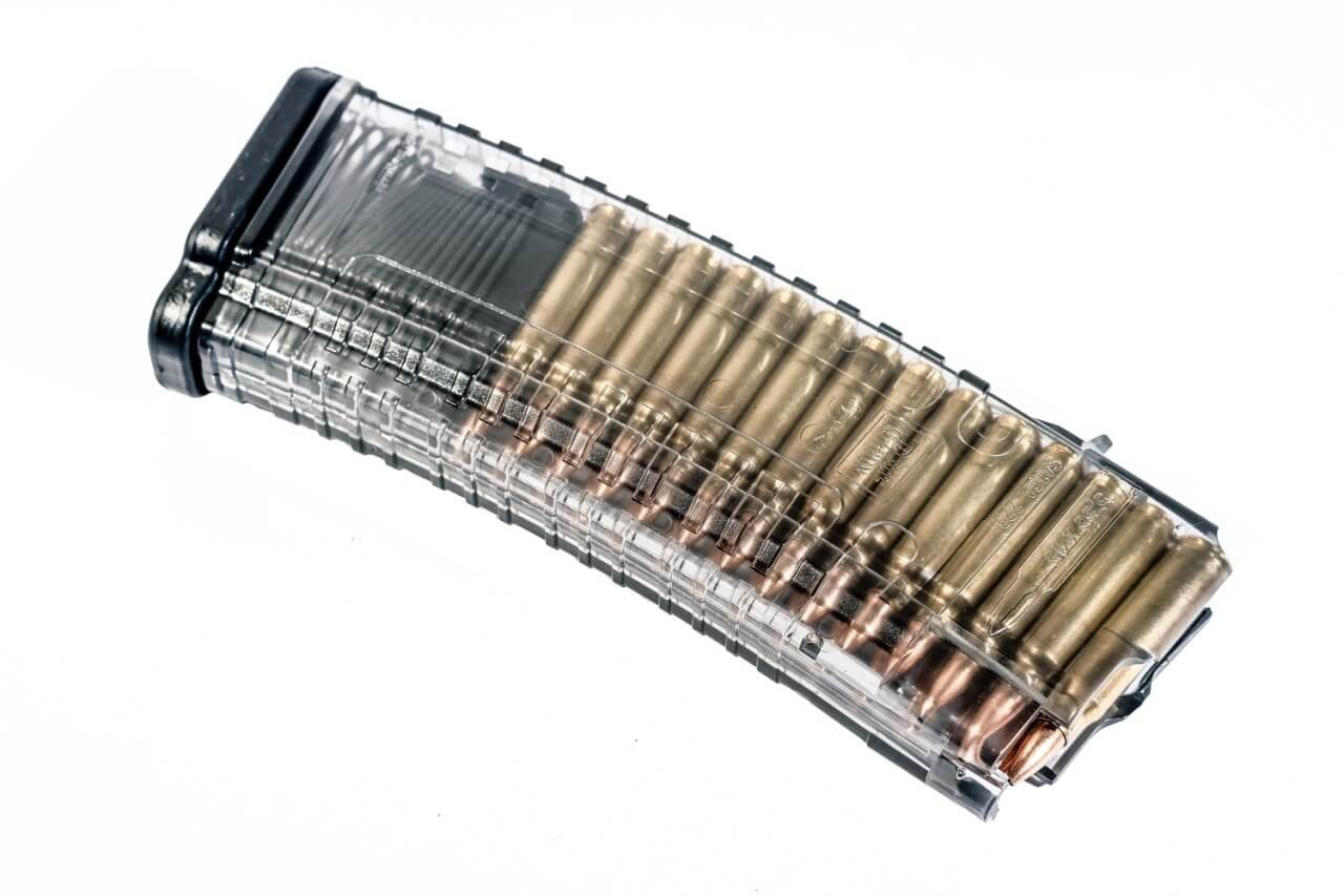 PUF GUN CARICATORE TRASPARENTE AK/SAIGA CAL 223REM 29 RND